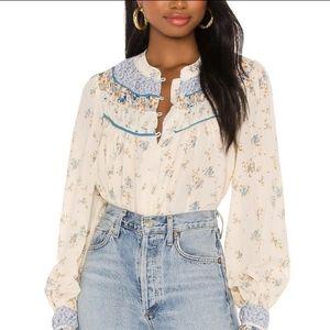 NEW Free People Paloma print blouse
